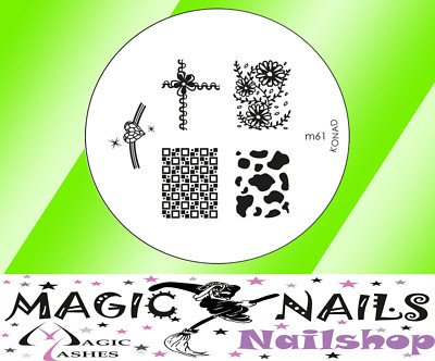 Magic Items Konad stamping pochoir M61 nail art neuf