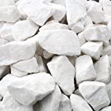 Marmorkies weiss gebrochen 16-25mm Zierkies Gartenkies 25kg Sack Marmorsplitt