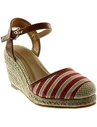 Nero 39 EU Angkorly Scarpe Moda Sandali con Cinturino Alla Caviglia Donna a47