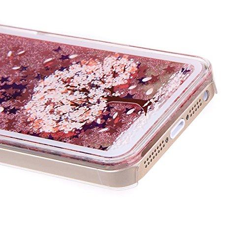 Ukayfe Ultra Slim Hard Plastica Protettivo Skin Custodia Stilosa custodia di design Protettiva Shell Case Cover Per Apple iphone 6/6S (4.7 pollice) Con free Stilo Penna - Black Mouth-we are all mad he Pero Rosa stampa
