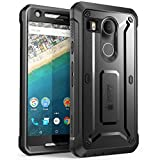 Google Nexus 5X Hülle (2015 Release), SUPCASE [Unicorn Beetle PRO Serie] Case mit integriertem Displayschutz / Zubehör (Schwarz)