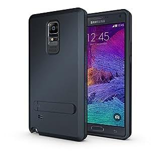 Caseink - Coque Housse Samsung Galaxy Note 4 N910 Antichoc Intégrale - Armor Defender 3 - Dark Blue