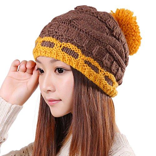 De coréennes laine hat/Dame belle chaude hat/Boule de mode/Protections auditives/Bonnet tricoté E