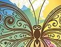 Fototapete - Vlies Aquarell Schmetterling