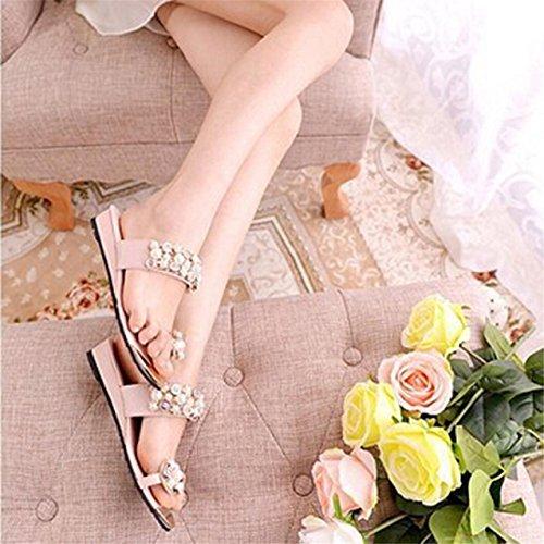 LHWY Damen Flip Flops Summer Style Plateau Hausschuhe White