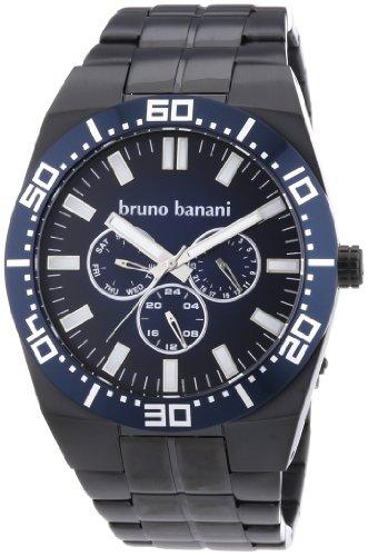 Bruno Banani - BR22003 - Montre Homme - Quartz Analogique - Bracelet Acier Inoxydable Plaqué Noir
