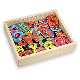 Andreu Toys 20,6x 19x 4,5cm magnetisch Decor Buchstaben und Zahlen (75, Mehrfarbig)