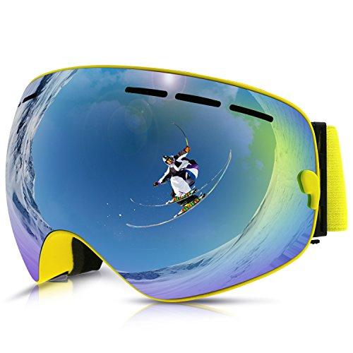 fb3b89c892 Gafas de Esquí,Gafas de Nieve de Snowboard Unisex Gafas Esqui  Snowboard-amarillo