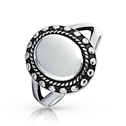 Wulstige Halo MonograMM Gravierbaren 925 Sterling Silber Oval Siegelring Für Damen Für Jugendlich Split Schaft Band
