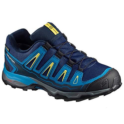 adidas X-Ultra GTX, Scarpe da Trail Running Unisex-Bambini, Blu Blau/Schwarz/Gelb, 32 EU