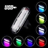 Luce Posteriore Bicicletta USB Ricaricabile, Sirius LED Luce Impermeabile per Bici, 7 Colore & 50 modalità di Luce, Adatto per Tutte Le Biciclette e Caschi per Ottimale Ciclismo Sicurezza