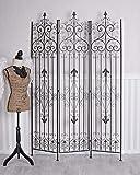 Unbekannt Paravent Metall Trennwand Sichtschutz Mobile Wand Eisen Spanische Wand Palazzo Exklusiv