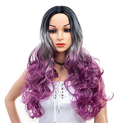 Cmylbaml Europäische und Amerikanische Perücken DREI-Farben-langes lockiges Haar -