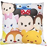 Disney Tsum Tsum Huddle Square Cushion, Polyester, Multi-Colour