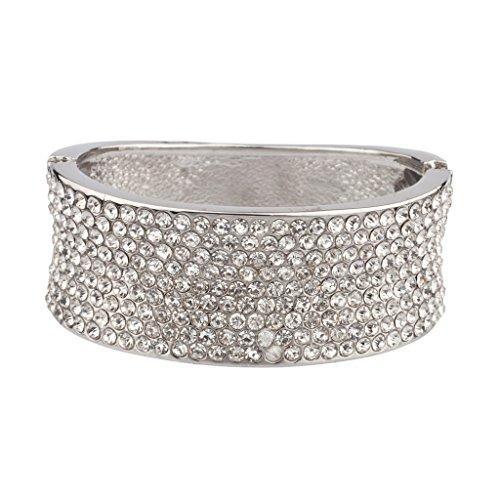 Lux Accessories - Strass Glam Armreif Gelenk-Armband