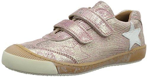 Bisgaard Klettschuhe, Sneakers basses mixte enfant Pink (710 Rose)