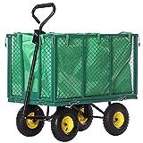 Jalano Handwagen Bollerwagen Plane Gartenwagen grün Handkarre 750 kg