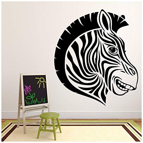 azutura Zebra Kopf Wandtattoo Safari Tiere Wand Sticker Kinder Schlafzimmer Haus   Dekor verfügbar in 5 Größen und 25 Farben Klein Türkis (Zebra-wand-dekor Türkis Und)
