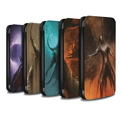 Offiziell Chris Cold PU-Leder Hülle/Case/Tasche/Cover für Apple iPhone 5/5S / Hohe Königin Muster / Dunkle Kunst Dämon Kollektion Pack 10pcs