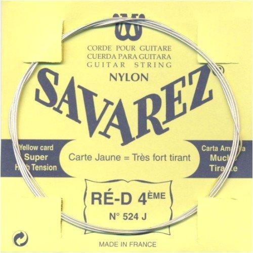 Savarez 655824 Saiten Für Klassik-Gitarre Traditional Concert 524J Einzelsaite - D4W High - Passend Zum Satz 520J