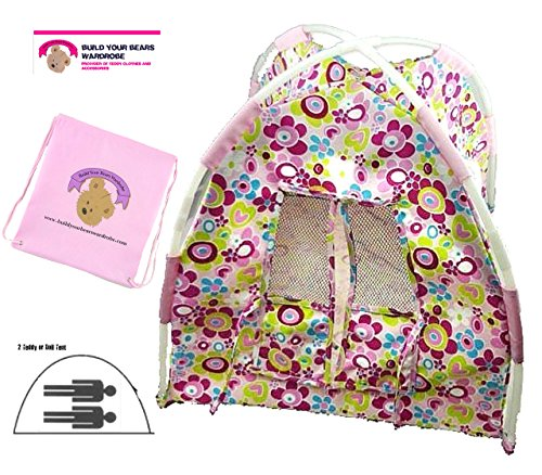 Floral Tent Teddy Bear clothes fits Build a Bear Factory Teddies