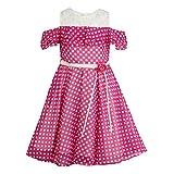Cutecumber Girls Georgette Polka Dot Pink Dress -(CC726D-PINK-18)