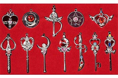 Moon Zubehör Kostüm Sailor - Schlüsselanhänger Heb 12 Produkte Magic Wand Props Silber Kettenanhänger Cosplay Kostüm Zubehör