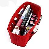 vancore Taschenorganizer Bag in Bag Filz Organizer Tasche, Handtaschen Organizer Groß Rot