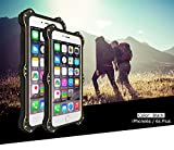 Case for Apple iPhone 6s, LOVE MEI Brand [MK2] QI Standard Wireless Charging Receiver Case Shockproof Dustproof Leather Cover Aluminum Metal with Built-in Gorilla Glass Screen Protector *Two-Years Warranty* Black