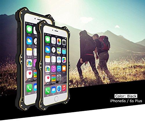 Love Mei [MK2] Wireless Charging Empfänger für Apple iPhone 6S, Qi Standard stoßfest staubdicht Aluminium Metall Hülle mit Luxus Leder Cover und Gorilla Glas * 2Jahre Garantie * schwarz