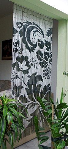 Leguana Bambustürvorhang Bambusvorhang Türvorhang Ornament XL ca. 115x220cm