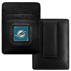 NFL Philadelphia Eagles Leather Money Clip/Cardholder Packaged in Gift Box