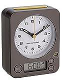 TFA-Dostmann Funk-Wecker COMBO TFA 60.1511 verschiedene Farben Reisewecker Analogwecker (anthrazit-gelb mit Batterien)