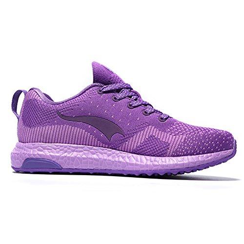 ONEMIX Homme Femme Air Chaussures de course running Sport Compétition Trail Mixte Adulte ete Baskets Basses purple
