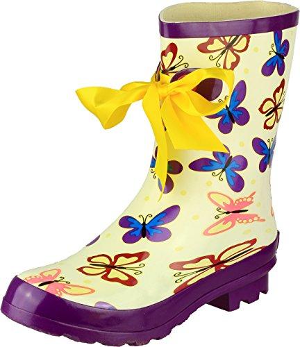 Cotswold ,  Damen Arbeits-Gummistiefel Schmetterling