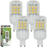 MENGS® Pack de 4 Bombilla lámpara LED 5 Watt G9, 30x 5050 SMD, Blanco Frío 6000K, AC 220V-240V