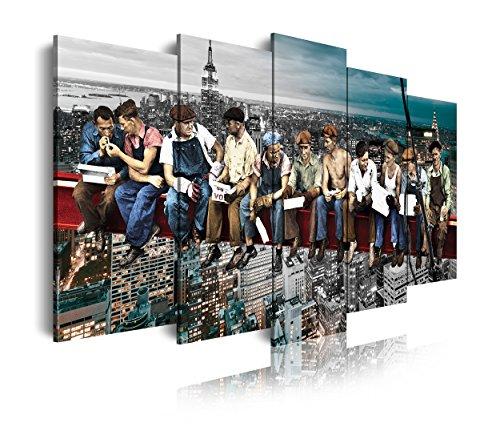 DekoArte 403 - Cuadro moderno lienzo 5 piezas XXL