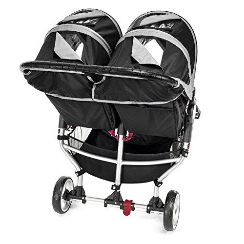 Imagen para Baby Jogger City Mini Gemelar - Silla de paseo, color negro/gris