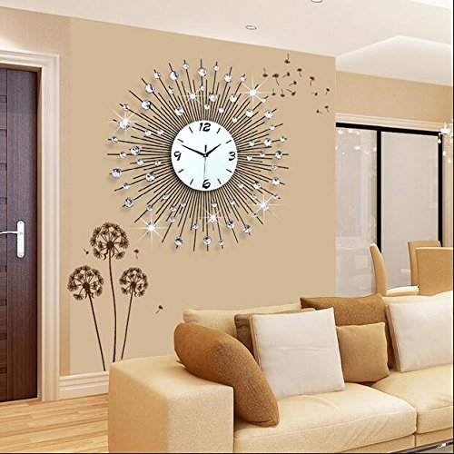 Kreative Mode (WYF-GZ Uhr Wanduhr Wohnzimmer Modern minimalistischen europäischen kreative Mode Persönlichkeit Uhr Schlafzimmer Ruhige Quarz-Uhr (größe : 75 * 75CM))
