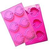 MKNzone 1 Stück 6-Loch 28.6 X 17 X 1.8 cm Silikon Backform Schokolade, Gelees und Süßigkeiten...