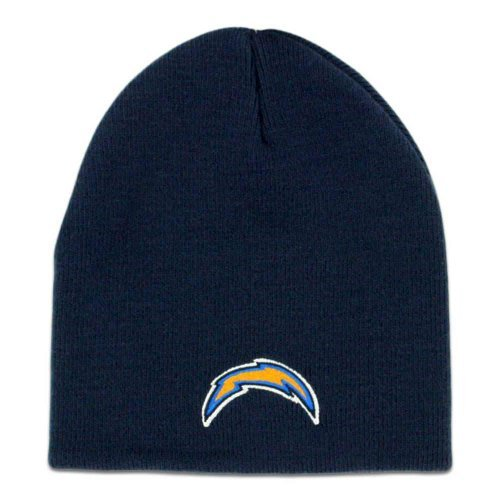 san-diego-chargers-navy-blue-skull-cap-nfl-bolts-cuffless-beanie-knit-hat-by-nfl-team-apparel