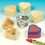 Baker Ross Holzdosen Herz für Kinder zum Bemalen und Gestalten, toll für Muttertag und Valentinstag - (4 Stück)