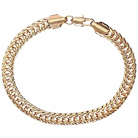 Women Men Copper Golden Magnetic Bracelet Linking Bangle Minimalism Chain