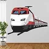 azutura Moderner Zug Wandtattoo Transport Wand Sticker Jungen Schlafzimmer Haus Dekor Erhältlich in 8 Größen Extraklein Digital