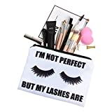 Yazidan Frauen-Wimpern Buchstaben drucken die Make-up Kosmetiktasche-Toilettenartikel-Speicher-Reise-Wäsche-Handtasche Aufbewahrungstasche Federmäppchen Federmäppchen Reisetasche