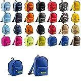 Mochila con nombre bordado personalizable, en diferentes tamaños (para niños y adultos), azul,...
