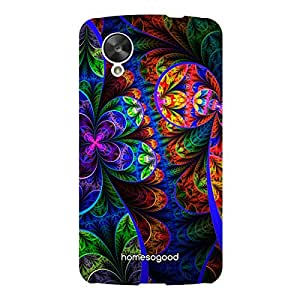 HomeSoGood Liberty Floral Pattern Style Multicolor 3D Mobile Case For LG Nexus 5 (Back Cover)