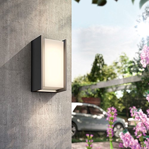 Philips Hue LED Wandleuchte Turaco Anthrazit inkl. Hue White   Hauswandleuchte, Outdoor