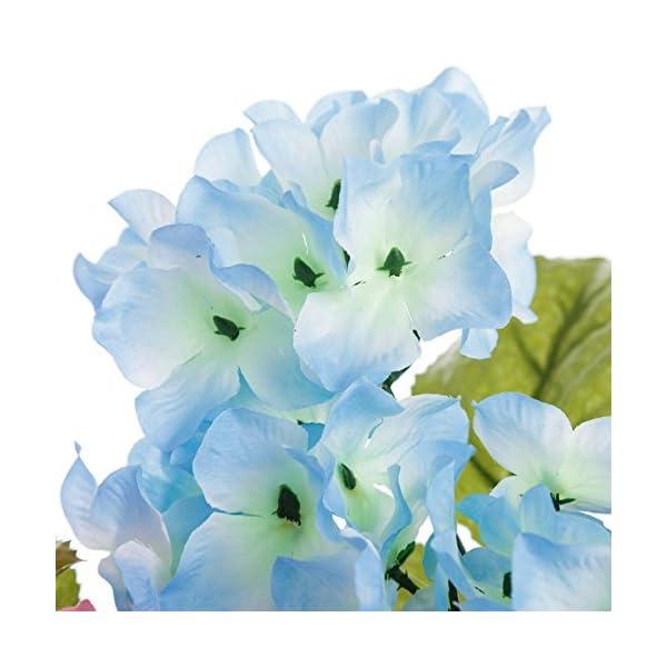 Dcasa – Pack 4 Planta Hortensia Decorada en Maceta 27 cm.