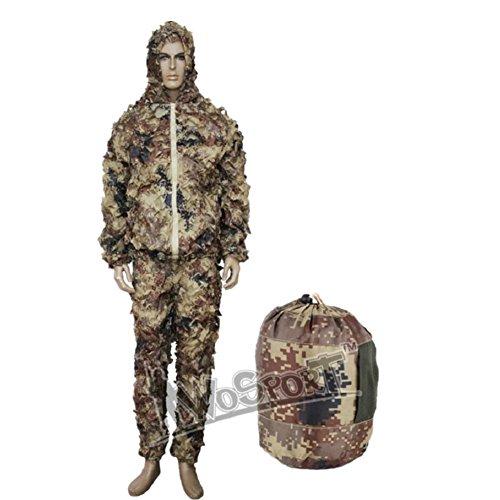 Jagd 3D leaf Camouflage Kleidung Camo Jungle Ghillie suit Camo Netting Kleidung (Camo-jagd-kleidung)